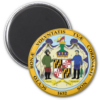 Maryland state seal america republic symbol flag magnet