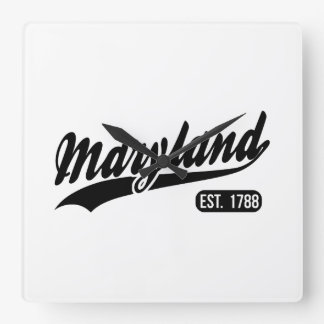 Maryland State Square Wall Clock