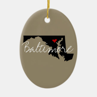 Maryland Town Ceramic Ornament