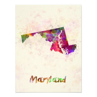 Maryland U.S. state in watercolor Photograph