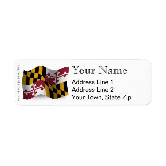 Maryland Waving Flag