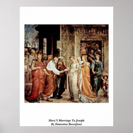 Mary'S Marriage To Joseph By Domenico Beccafumi Poster