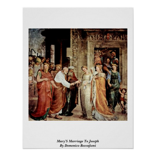 Mary'S Marriage To Joseph By Domenico Beccafumi Poster
