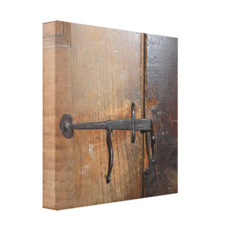 Mary's Schoolhouse Rustic Door Lock - Sudbury MA Canvas Print