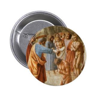 Masaccio Baptism of the Neophytes Pin