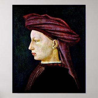 Masaccio - Portrait of a youth in profile Poster