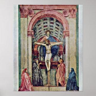 Masaccio - Trinity ??????: De Drie-Eenheid Poster