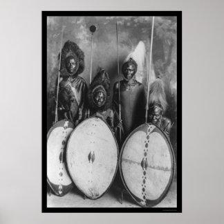 Masai Warriors Kenya, Africa 1920 Poster