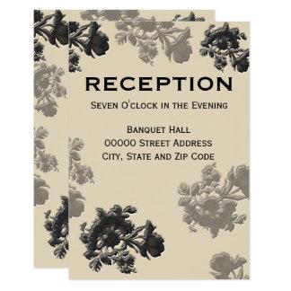 Masala Flora Wedding Reception Card
