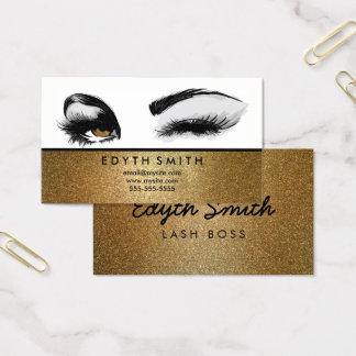 Mascara de scintillement d'or ou carte de visite