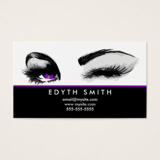 Mascara or Eyelashes Business Card