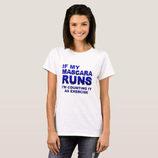 Mascera Runs Exercise Funny Tshirt
