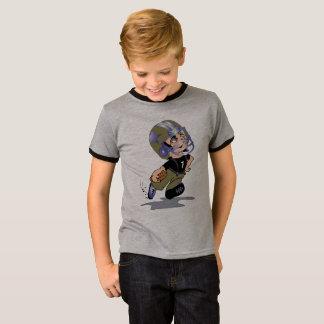 MASCOTTE ALIEN CARTOON Kids' Basic Ringer T-Shirt