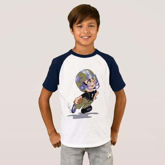 MASCOTTE ALIEN CARTOON Kids' Short Sleeve Raglan T T-Shirt