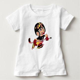 MASCOTTE HOCKEY PLAYER BABY CUTE Baby Romper