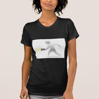 Mascotte métallique avec la lampe-torche de torche t-shirt