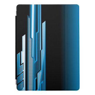 Masculine Abstract Sky Blue Black Design iPad Pro Cover