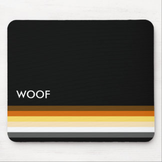 Masculine and Sleek Gay Bear Pride Flag woof Mouse Pad