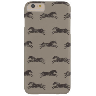 Masculine Black and Tan Classic Equestrian Horses Barely There iPhone 6 Plus Case