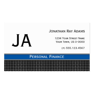 Masculine Black Blue and Silver Metal Weave Pack Of Standard Business Cards
