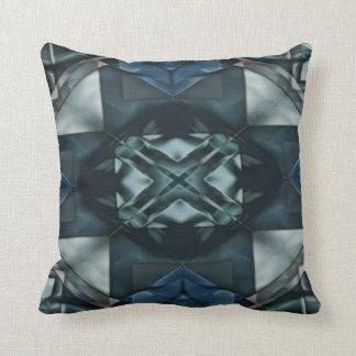 Masculine Blue Greyscale Hip Modern Geometrical Throw Pillow