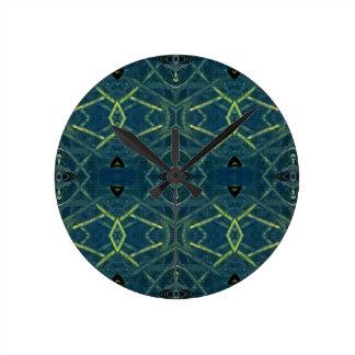 Masculine Blue Linear Pattern Clocks