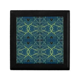 Masculine Blue Linear Pattern Trinket Box