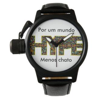 Masculine clock watch