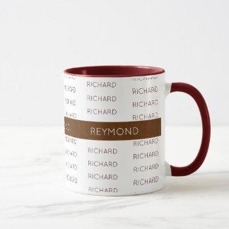 masculine first and last names elegant typography mug