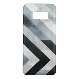 Masculine Geometric Distressed Black & Gray Design Case-Mate Samsung Galaxy S8 Case