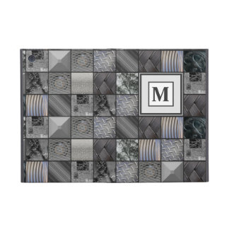 Masculine Monochrome Mosaic Tiled Pattern Cover For iPad Mini