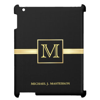 Masculine Monogram Executive Gold iPad Mini Case