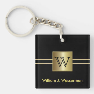 Masculine Monogram Executive Keychain
