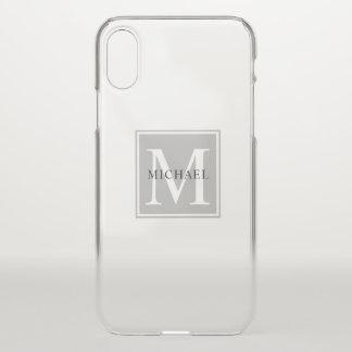 Masculine Monogram Minimalist Block Lettering iPhone X Case