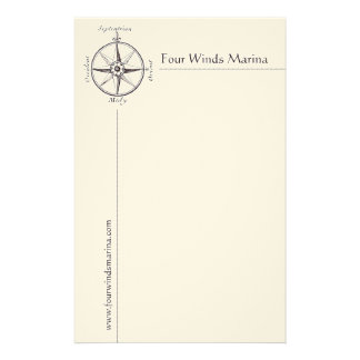 Masculine Nautical Stationery with Antique Compass