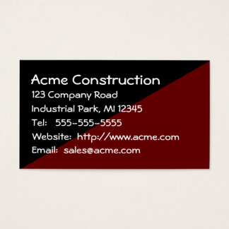 Masculine No Frills Brown and Black Mens Business Card