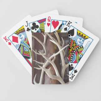 Masculine Outdoorsy Intertwined Antlers Poker Deck