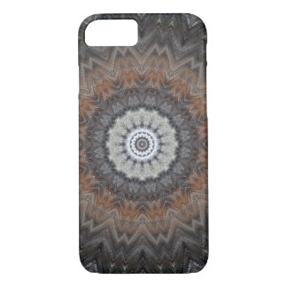Masculine Silver and Grey Industrial Mandala Case-Mate iPhone Case