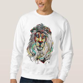 """Masculine Suéter """"Colorful Lion """" Sweatshirt"""