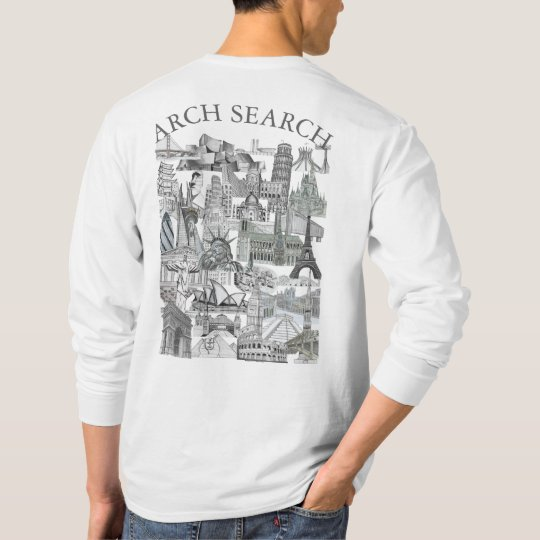 Masculine t-shirt Basic Long Arch Mural Search