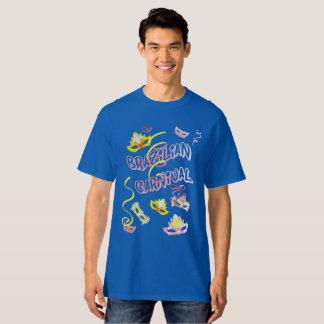 Masculine t-shirt Blue Carnival of Brazil