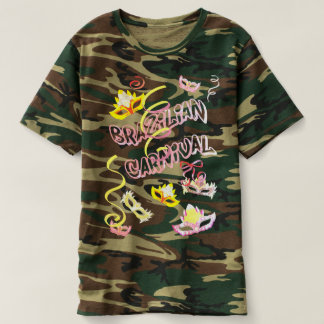 Masculine t-shirt Camouflaged Carnival of Brazil