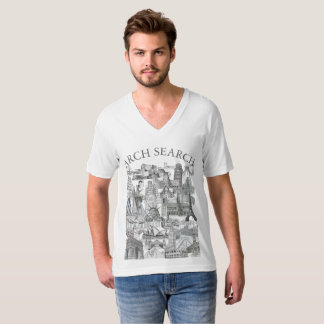 Masculine t-shirt Collar V Arch Mural Search