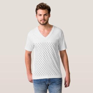 Masculine t-shirt Collar V Mesh Arch Search