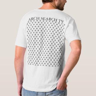 Masculine t-shirt Collar V Mesh Arch Search TV