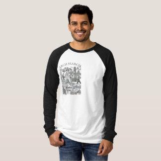 Masculine t-shirt Raglan Long Arch Mural Search