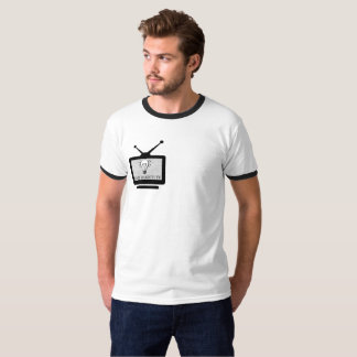 Masculine t-shirt Ringer Arch Search TV