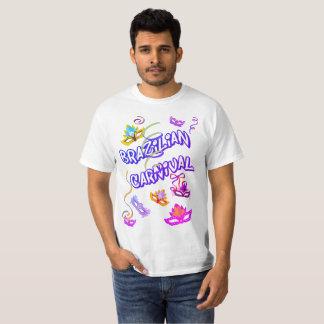 Masculine t-shirt White Carnival of Brazil