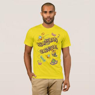 Masculine t-shirt Yellow Carnival of Brazil