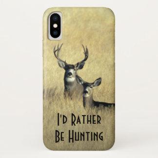 Masculine White Tail Mule Deer Buck Doe iPhone X Case